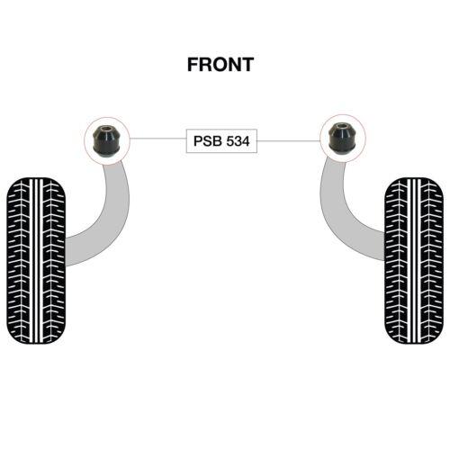 2 x LEXUS è 200//300 NUOVA Front Strut Rod PSB boccole in poliuretano 2001-2005