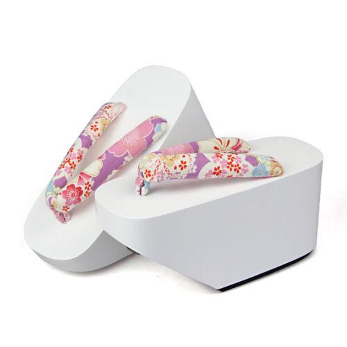 Women Maiko Geisha Kagamine Len Japanese Okobo Geta Clog Kimono Cosplay Shoes