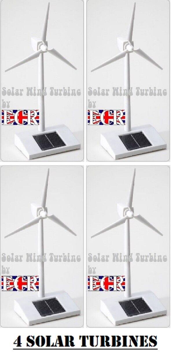 Vier Ja 4 Solar Technologie Führungskraft Solarbetriebene Windrad Groß Boys Toys