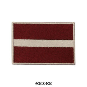 LATVIA National Flag Embroidered Patch Iron on Sew On Badge For Clothes etc