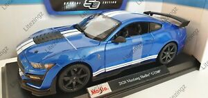 MAISTO-1-18-Scale-Diecast-Model-Car-2020-Ford-Mustang-Shelby-GT500-in-Blue