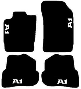 AUDI-A1-TAPPETI-tappetini-per-AUTO-in-MOQUETTE-SU-MISURA-4-decori-4-block