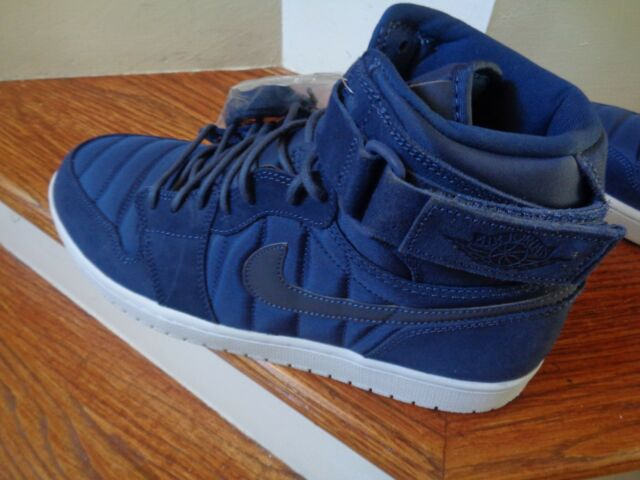 quality design 2eb40 cc7b6 Air Jordan 1 High Strap Mens 342132-400 Midnight Navy White Shoes Size 11