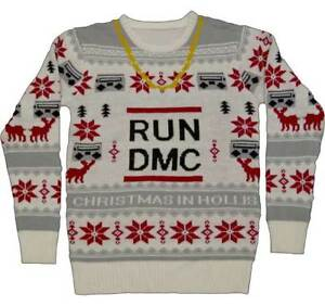 RUN DMC Gold Chain Holiday Xmas Adult Mens Ugly Christmas Sweater ...