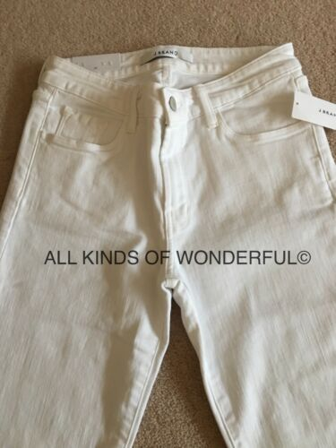 J Brand Amelia Straight Leg  M//Rise in Blanc white RRP£195 Brand New With Tags