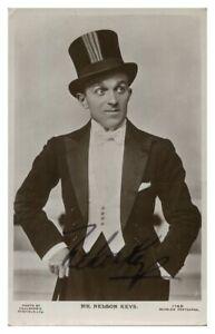 Antique-Mr-Nelson-Keys-hand-signed-autograph-photographic-postcard-actor