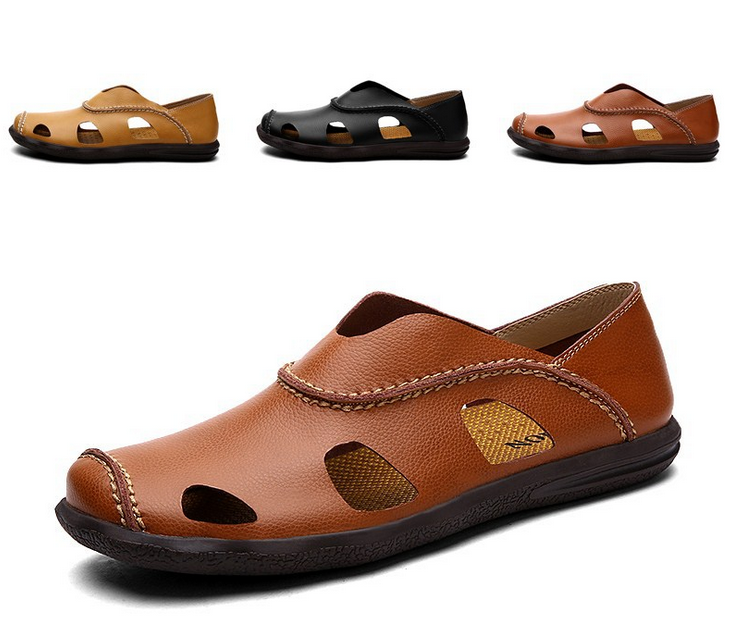 Men's Fisherman Sandals Breathable Casual Flats Slip On Slippers Beach shoes
