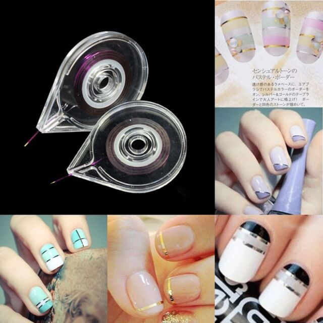 Fashion Nail Art Striping Tape Line CASE Tool Sticker BOX Holder Easy Use Design