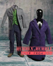 1/6 Joker Heath Ledger Costume Suit 2.0 Batman For DX01 DX11 Hot Toys SHIP ☆USA☆