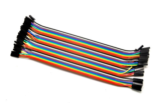 120pcs 20cm 2.54mm 1pin Breadboard Solderless Jumper Wire Cable for Arduino