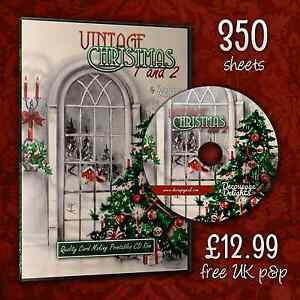 GIANT-Christmas-3D-Decoupage-Quality-Card-Making-CD-Rom-Free-P-amp-P-350-Sheets