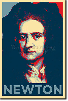 ISAAC NEWTON PHOTO PRINT 2 POSTER GIFT (OBAMA HOPE INSPIRED)