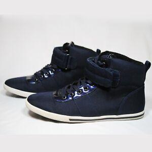 Aldo High Top Sneakers Shoe Straps Blue