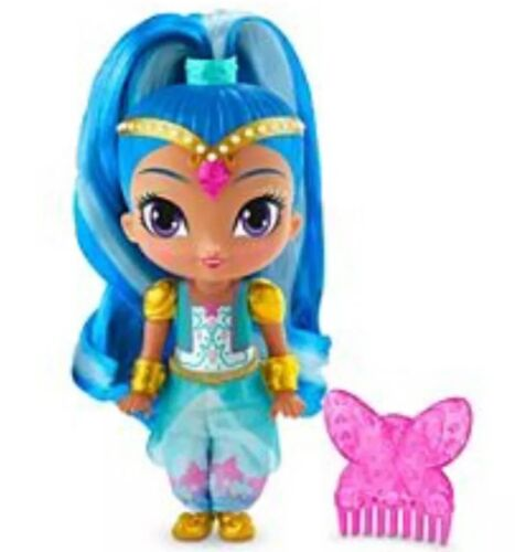 """NIP Shimmer and Shine Zahramay Skies Blue Shine Genie 6"""" Doll Butterfly Comb"""