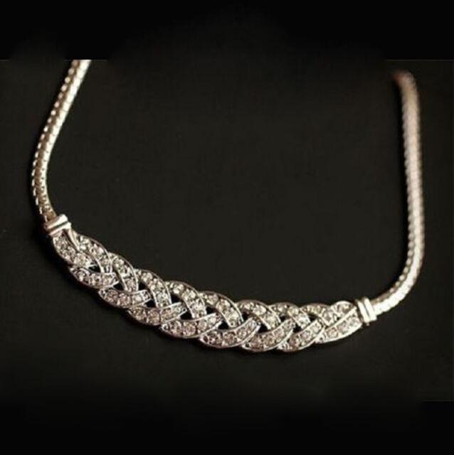 Gift Charm Jewelry Pendant Chain Crystal Choker Chunky Statement Bib Necklace