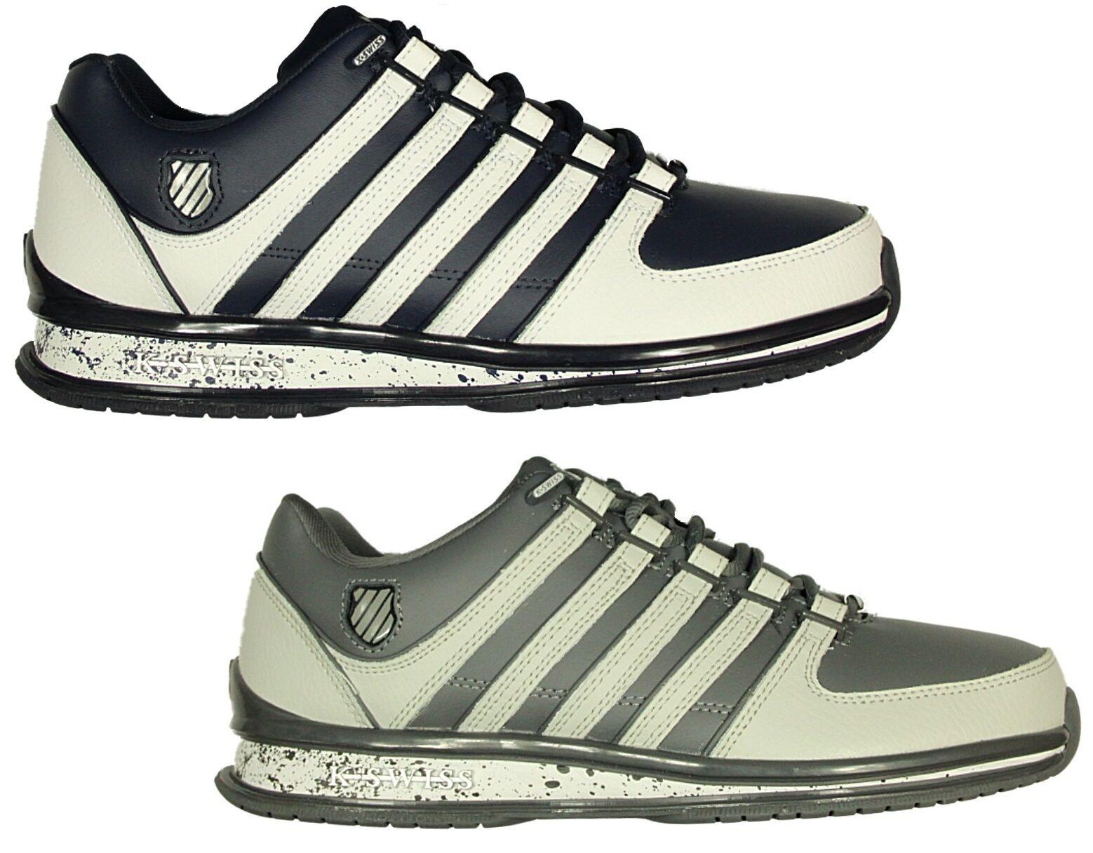 Totalmente nuevo para hombre K. SWISS Rinzler Con Cordones Zapatillas Calzado en blancooo-gris Zapatillas
