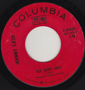 """JOHNNY CASH - SEE RUBY FALL  7"""" 45"""