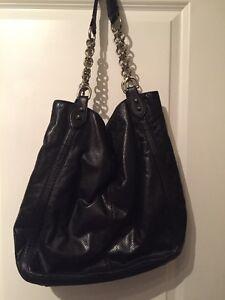 Image Is Loading Donald J Pliner Black Leather Hand Bag