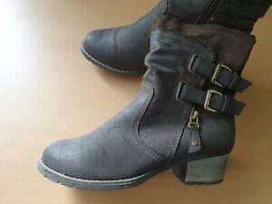 Details zu Rieker Damenschuhe Schuhe Stiefel warmfutter Boots Gr. 41