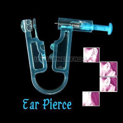 UN Disposable Safety Ear Piercing Gun Unit Tool With Ear Stud Asepsis Pierce Kit