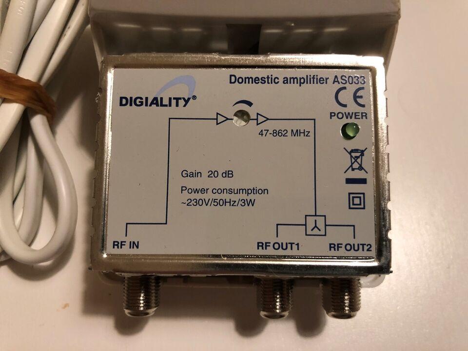 Antenneforstærker, Digiality Domestic amplifier AS033,