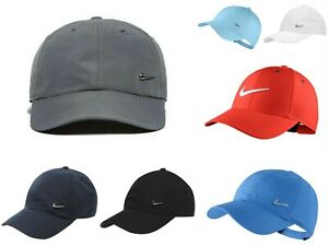 196f893868c39 Nike Metal Swoosh Cap Junior boys Baseball Hat Adjustable Running ...
