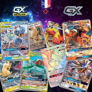 Lots-de-cartes-Pokemon-neuves-GX-MEGA-EX-ESCOUADE-brillantes-en-francais-Cadeaux