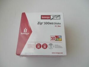Details about 10 New Iomega Zip 100 MB Colored Disks Dual Format PC Mac  Disks - Factory Sealed