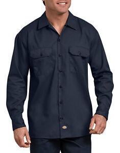 6dd429fbec28 Dickies Men's Long Sleeve Heavyweight Cotton Work Shirt Brand New ...