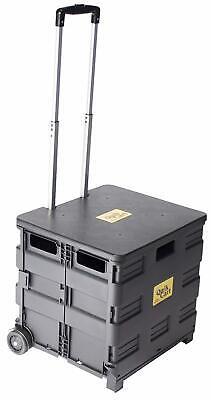 Portable Rolling Shopping Cart Basket Storage Folding Wheel Utility Grocery US