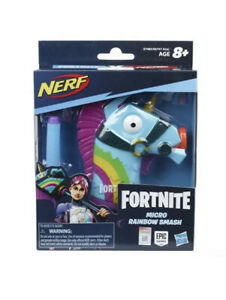 Nerf Fortnite Micro Rainbow Smash Microshots Blaster - Toy Gun Pistol Weapon