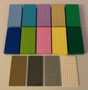Preowned Lego 8x16 Studded Base Plates - You Pick The Color Quantity of 5