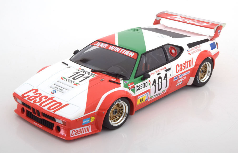 Minichamps BMW M1 E26 24h Le Mans 1984 Winther Mercer Jensen  18 LE of 354