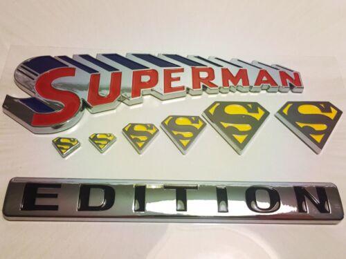 SUPERMAN Edition Emblem Hero 3D Car Truck WILLYS HUMMER Studebaker BADGE SIGN