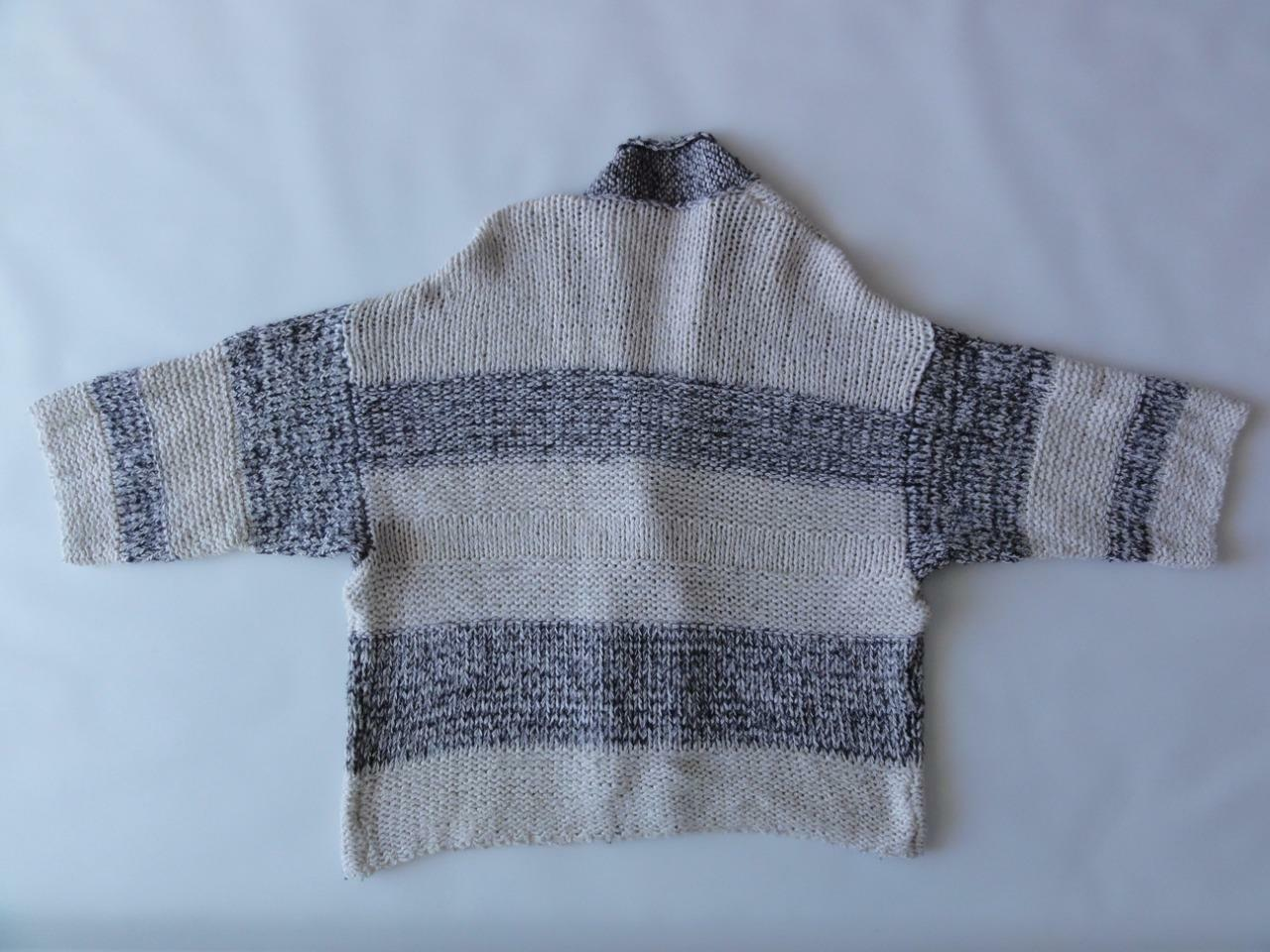 VINCE 3 4 SLEEVE KNIT KNIT KNIT TEXTURED OPEN CARDIGAN, HSO Stripe, Size M L, MSRP  425 0050a3