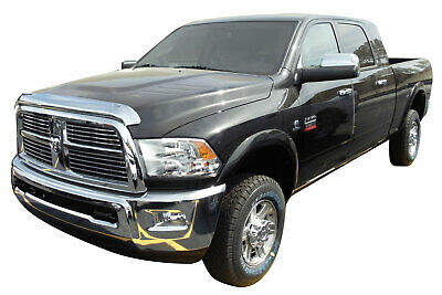 10-18 Dodge Ram 2500+3500 Chrome Bug Shield Air Deflector Hood Guard Protector