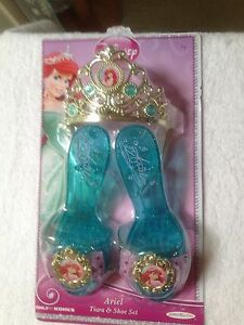 New Disney Cinderella, Rapunzel, Anna Tiara & Play Shoes ( One Size 3-5+)