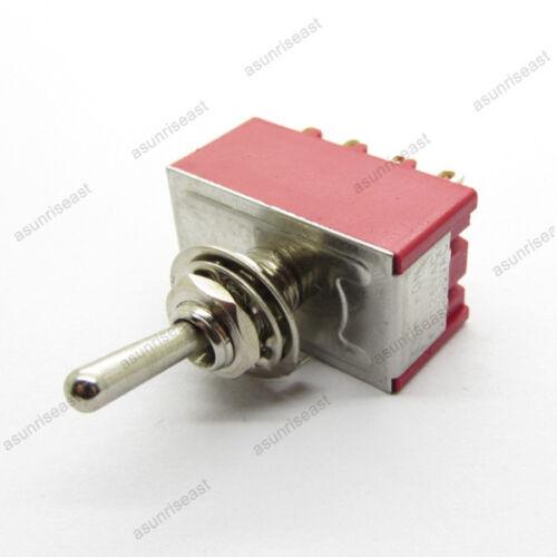 50×Mini Toggle Switch 4PDT 2 Position ON-ON 12-PIN 250V 2A 120V 5A Wholesale