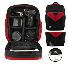 For Canon EOS 5D Mark II  PRO Sparta Compact Camera Backpack Bag Case Red