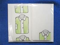 12 Ivory Hand Painted Shirt Gift Enclosures With Envelopes
