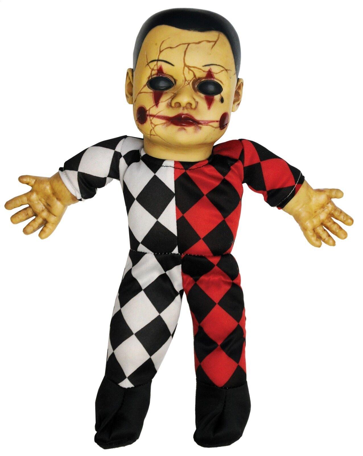Harlequin Spielzeug Sprechen Gruselig Gruselig Gruselig Hellequin Clown Heimgesucht Puppe | Hohe Qualität  7915a5