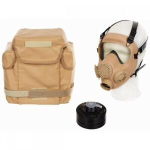 Pol-Schutzmaske-MP5-Filter-khaki-Gasmaske-ABC-Schutz-Militaer-Atemschutz-Tasche