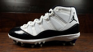 0835103574a0dd Air Jordan 11 Retro XI (White   Black) TD Football Cleat  AO1561-123 ...