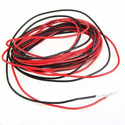 2x 3M 22 Gauge AWG Silicone Rubber Wire Cable Red Black Flexible