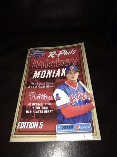 2019 Reading Fightin Phils Official Program Issue 5 Mickey Moniak Phillies