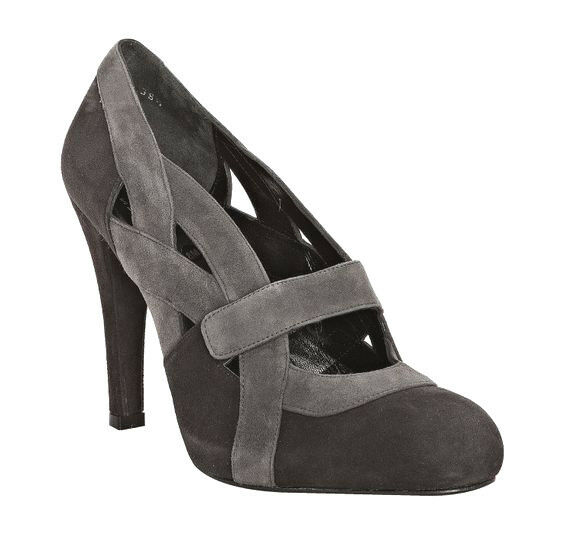 STUART WEITZMAN GREY GREY GREY CHARCOAL MINGLE SUEDE CUTOUT PUMPS HEELS 2289 SIZE 6 0242f8