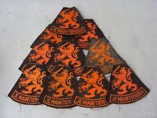 10 x Dutch Army / Military Je Maintiendrai Insignia / Cloth Patches