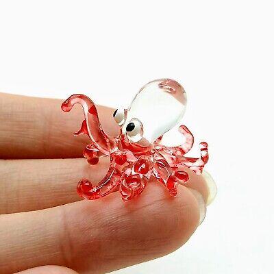 Figurine Animal Hand Blown Glass Purple Octopus Squid GPOC029