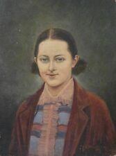TRES BEAU PORTRAIT DE FEMME 1930 SIGNé NICOMèDE Peinture Huile sur carton toilé