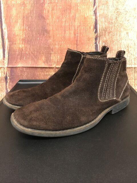Operación posible espina Industrial  Steve Madden P-Skor Brown Leather Side Zipper Chukka Boots Men's ...